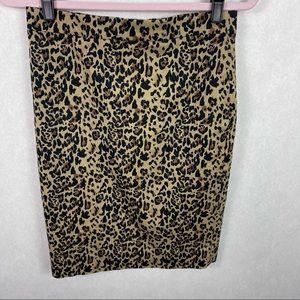 J.Crew No 2 Pencil Skirt Leopard Knee Length 2